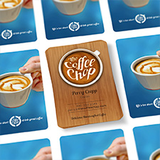 portfolio, the coffee chop, business cards design, pixl, jeremy goldberg